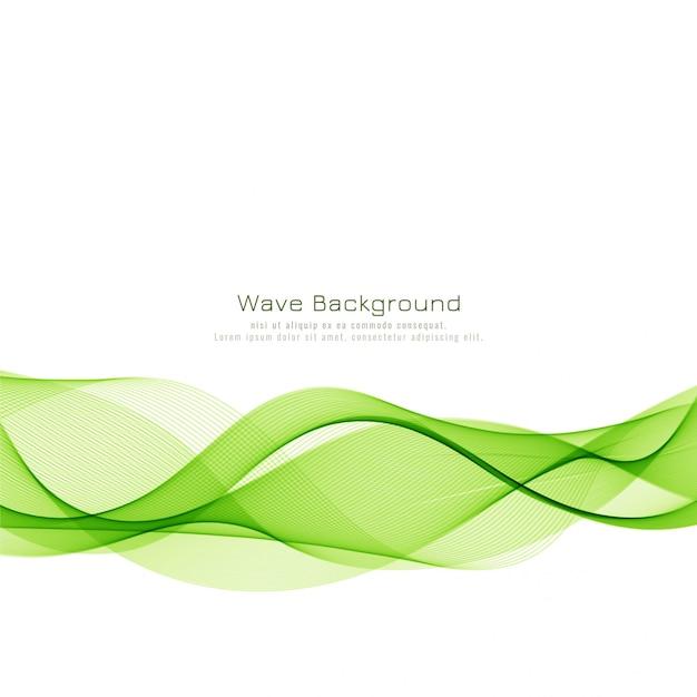 Abstrait élégante vague verte Vecteur gratuit