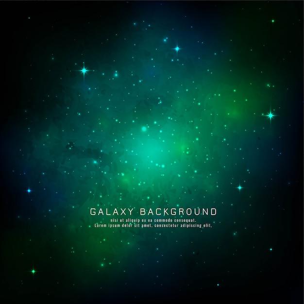 Abstrait espace vert galaxie Vecteur gratuit