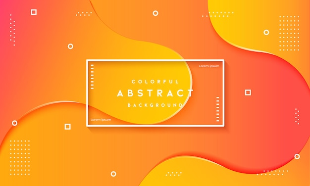Abstrait fluide dynamique texturé fond orange Vecteur Premium