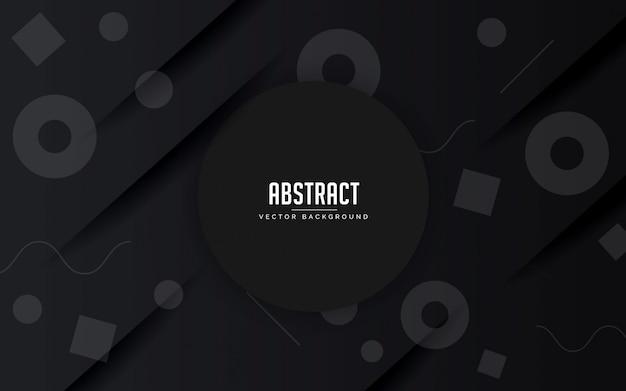 Abstrait fond géométrique noir et gris couleur moderne Vecteur Premium
