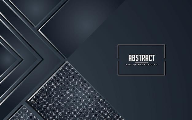 Abstrait fond noir et gris avec des paillettes argent Vecteur Premium