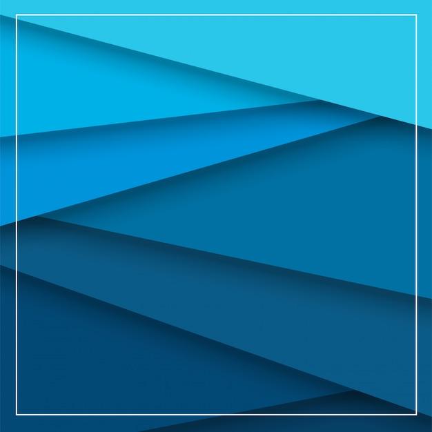 Abstrait fond qui est l'apparition de papier bleu qui se chevauchent et de belles ombres. Vecteur Premium