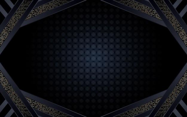 Abstrait Fond Sombre Avec Forme Géométrique Et Paillettes Vecteur Premium
