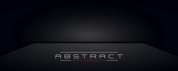 Abstrait Fond Sombre, Papier Peint, Technologie De Conception Moderne Bannière Noir Vecteur Premium