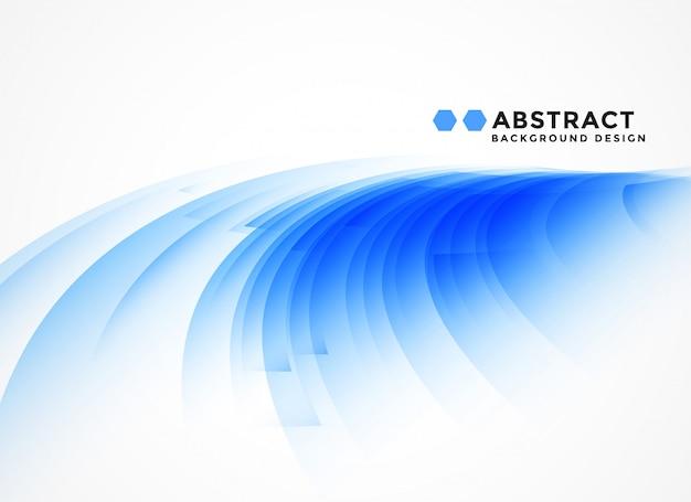 Abstrait de forme bleue sinueuse Vecteur gratuit