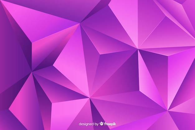 Abstrait de forme géométrique tridimensionnelle Vecteur gratuit