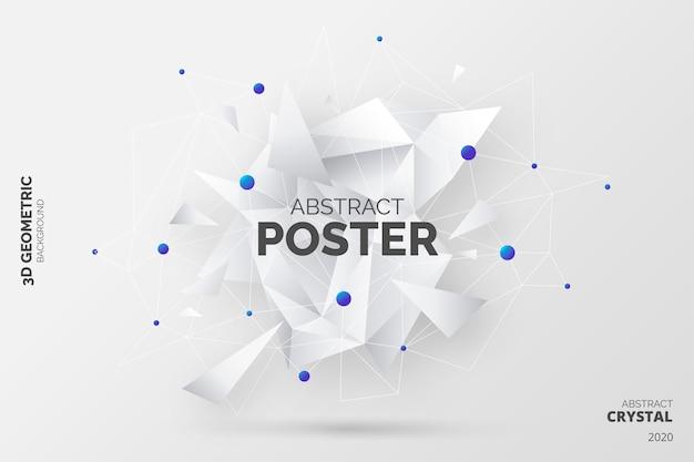 Abstrait Avec Des Formes De Cristal 3d Vecteur gratuit