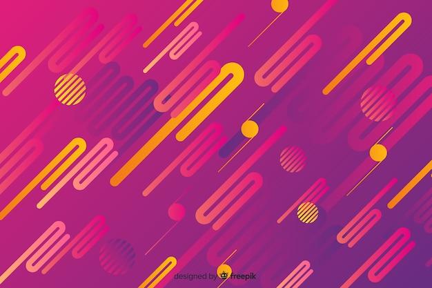 Abstrait avec des formes dynamiques dégradées Vecteur gratuit
