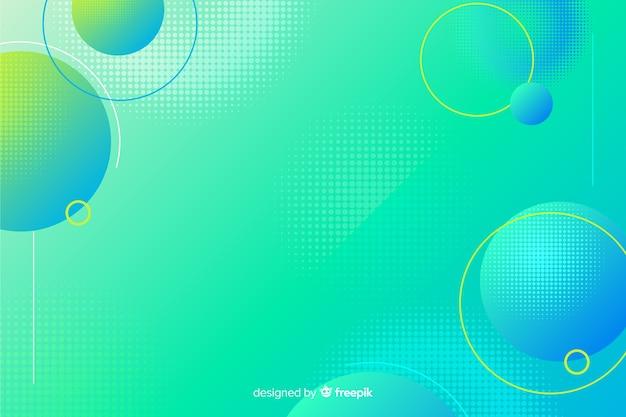 Abstrait avec des formes fluides Vecteur gratuit