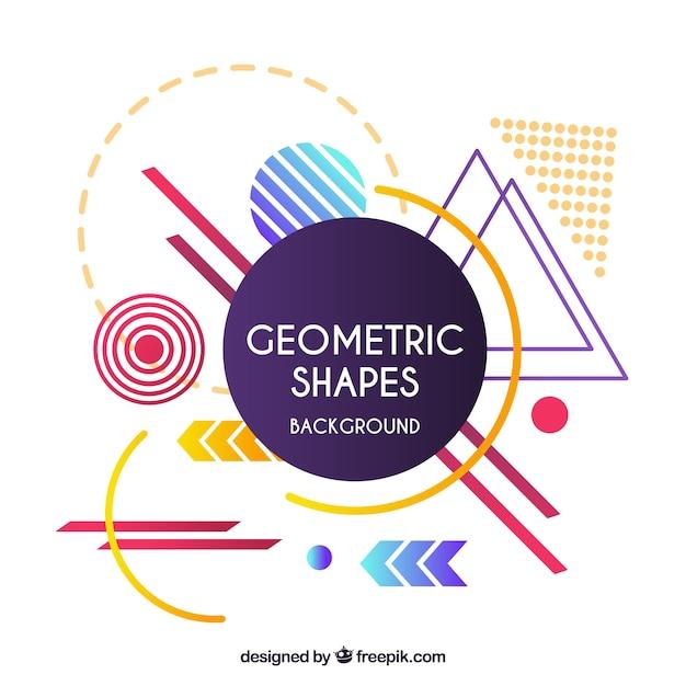 Abstrait avec des formes géométriques Vecteur gratuit