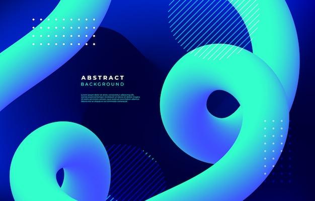 Abstrait avec des formes linéaires fluides Vecteur gratuit