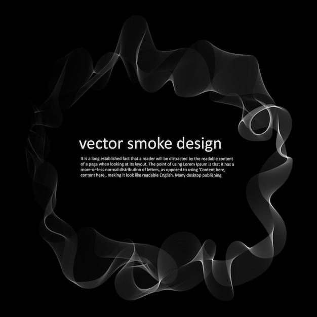 Abstrait avec fumée Vecteur gratuit
