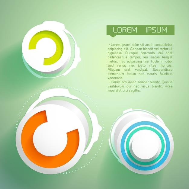 Abstrait Futuriste Avec Des Cercles Vecteur gratuit