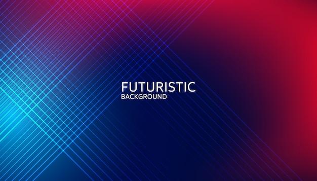 Abstrait futuriste ligne lumineuse Vecteur Premium