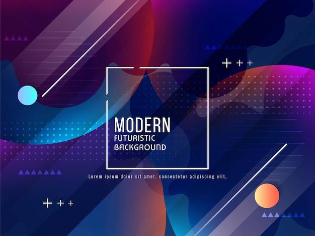 Abstrait futuriste moderne Vecteur gratuit