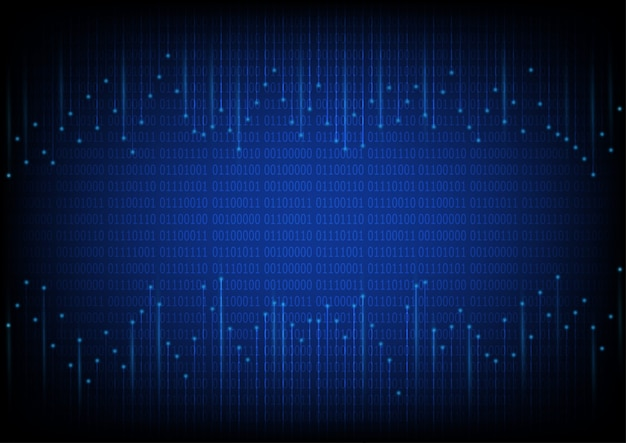 Abstrait futuriste numérique et de la technologie avec le code binaire. Vecteur Premium