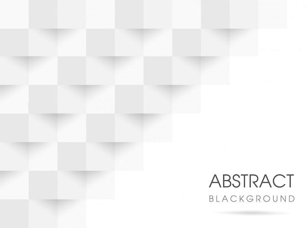 Abstrait géométrique blanc et gris 3d. illustration vectorielle eps10. Vecteur Premium