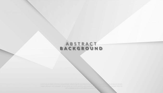 Abstrait Géométrique Blanc Et Gris. Illustration Vecteur Premium