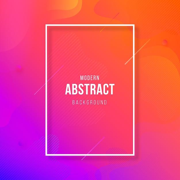 Abstrait géométrique coloré moderne Vecteur Premium