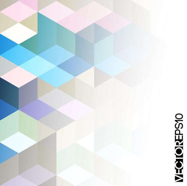Abstrait Géométrique Coloré Vecteur Premium