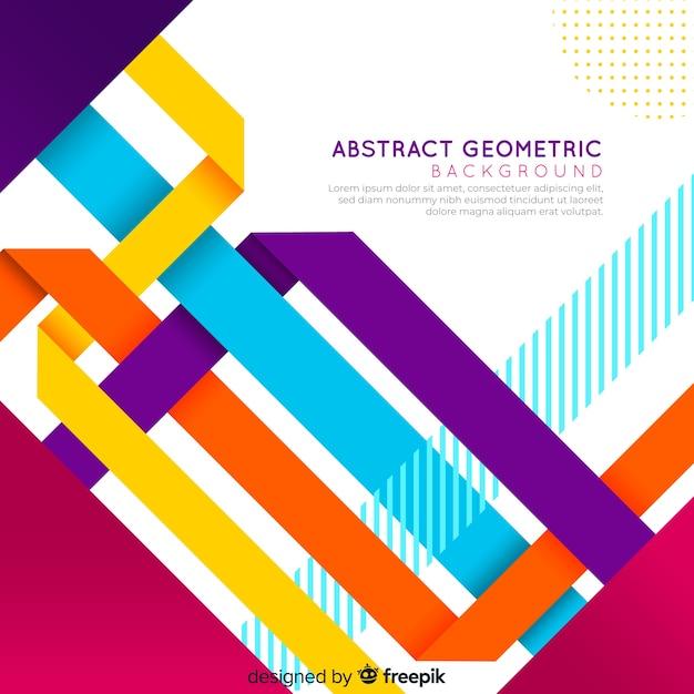 Abstrait géométrique coloré Vecteur gratuit