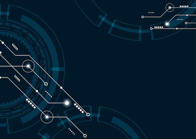 Abstrait géométrique connecter des lignes et des points de fond Vecteur Premium