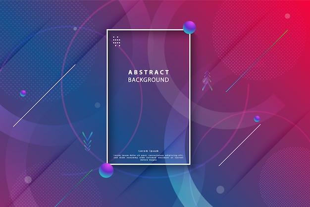 Abstrait géométrique dégradé coloré Vecteur Premium