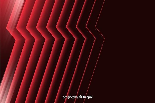 Abstrait Géométrique Foudre Rouge Vecteur gratuit