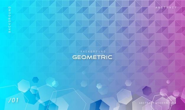 Abstrait géométrique hexagonal Vecteur Premium