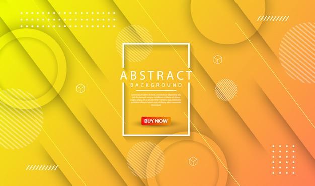 Abstrait Géométrique Moderne Avec Dégradé Dynamique Vecteur Premium