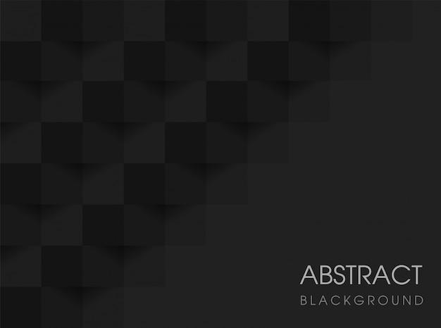 Abstrait géométrique noir 3d. illustration vectorielle eps10. Vecteur Premium