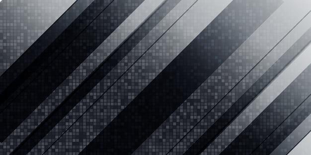 Abstrait Géométrique Noir Et Blanc Vecteur Premium