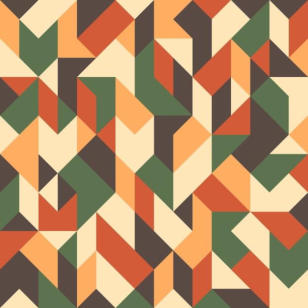 Abstrait géométrique sans soudure. Vecteur Premium
