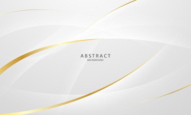 Abstrait Gris Et Or Avec Des Vagues Dynamiques. Réseau Technologique. Vecteur Premium