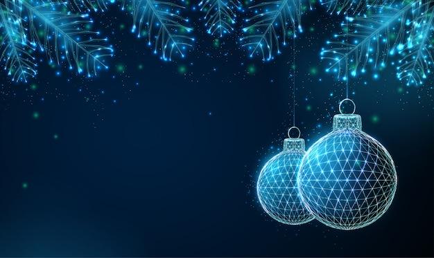 Abstrait Happy 2020 Nouvel An Avec Des Branches D'arbres Fit. Vecteur Premium