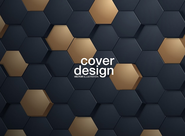 Abstrait hexagonal Vecteur Premium