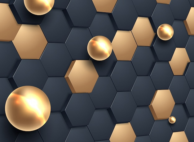 Abstrait hexagonal Vecteur Premium