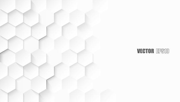Abstrait. Hexagone Gaufré Vecteur Premium