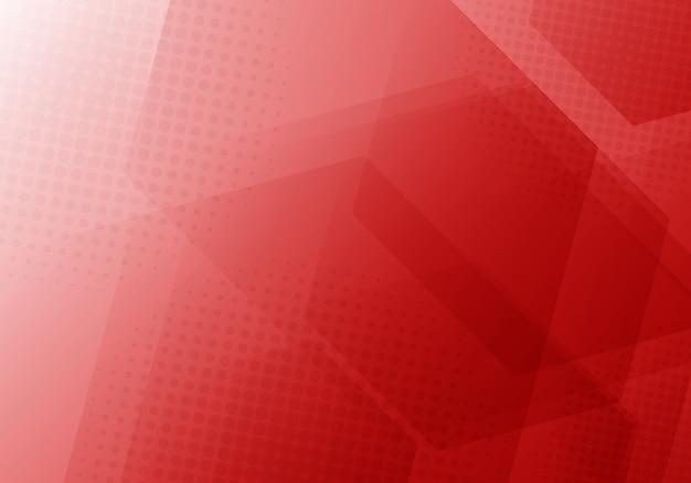 Abstrait d'hexagones géométriques rouges Vecteur Premium