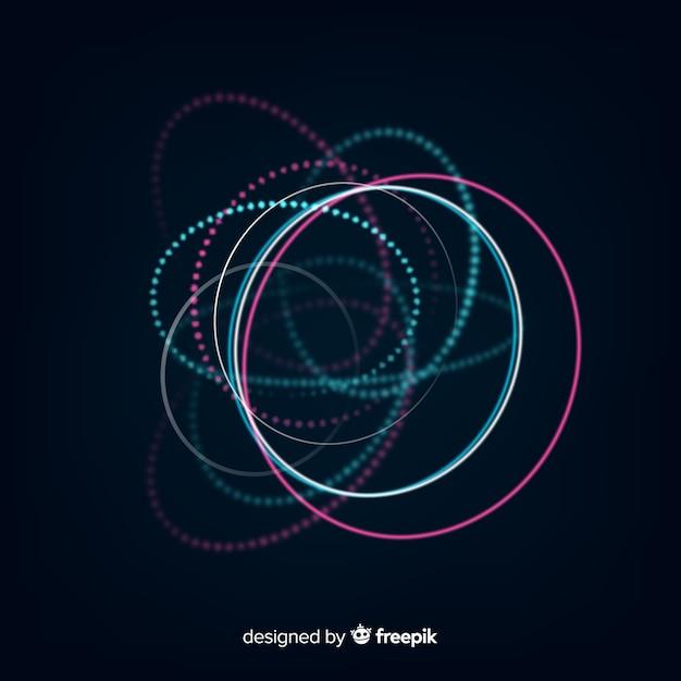 Abstrait hologramme rougeoyante futuriste Vecteur gratuit