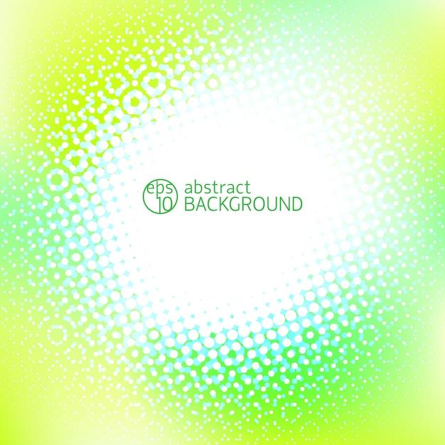 Abstrait Jaune Avec Un Espace Blanc Au Centre Et Des Points Lumineux Autour Vecteur gratuit