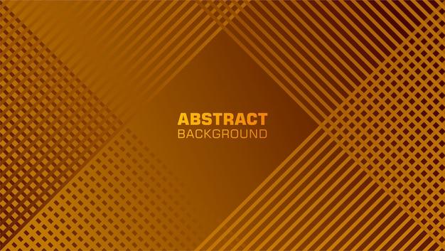 Abstrait avec ligne de filets inclinés de couleur cuivre Vecteur Premium