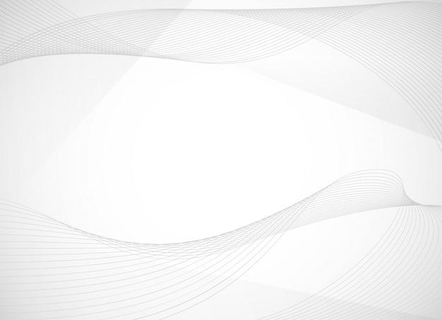 Abstrait avec une ligne ondulée incurvée Vecteur Premium