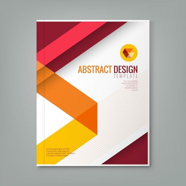 Creative Book Cover Design Vector : Abstrait ligne rouge modèle de conception d arrière plan