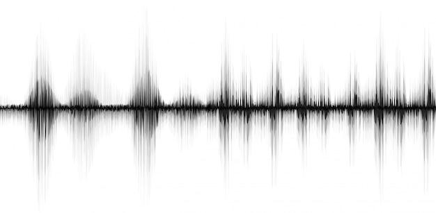 Abstrait ligne soundwave Vecteur Premium