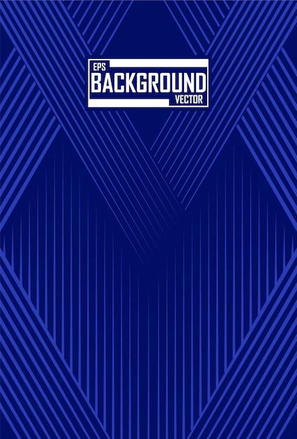 Abstrait lignes bleues Vecteur Premium
