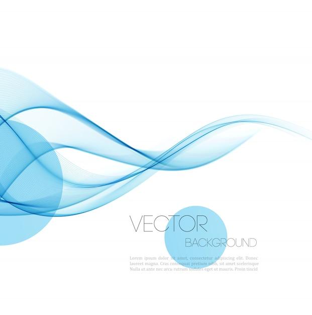 Abstrait de lignes courbes. Vecteur Premium