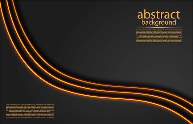 Abstrait avec des lignes dorées Vecteur Premium