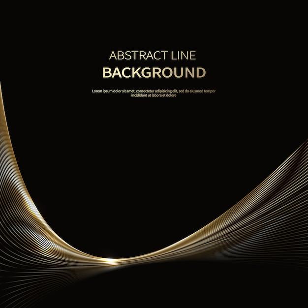 Abstrait de lignes de luxe en or Vecteur Premium