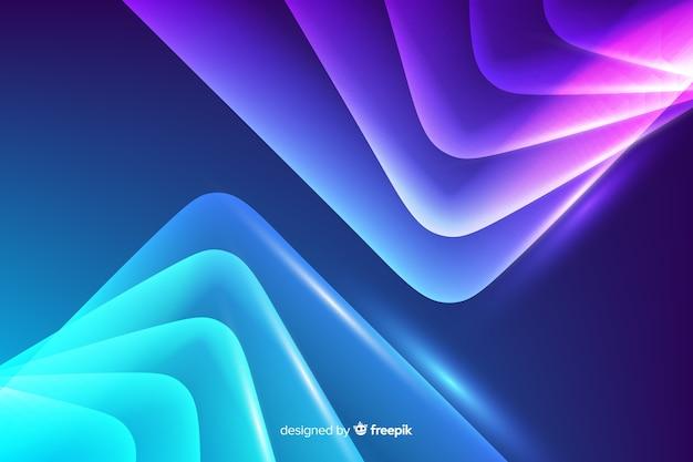 Abstrait lignes néon Vecteur gratuit
